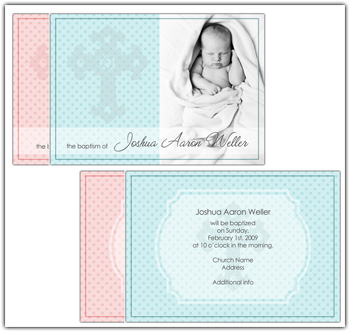 this christening invitation is